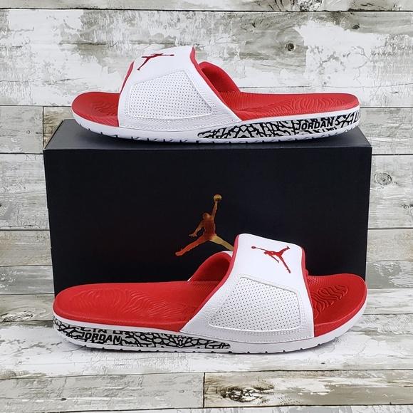 0a8058c72 Nike Men s Jordan Hydro 3 III Retro White Fire Red